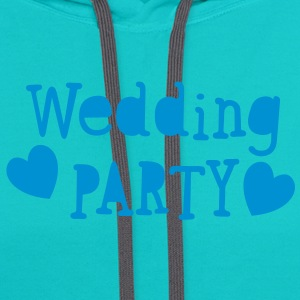 wedding party new vintage funky font T-Shirts - Contrast Hoodie