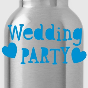 wedding party new vintage funky font T-Shirts - Water Bottle