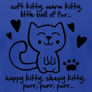 soft kitty, warm kitty, little ball of fur... Tanks - Men's T-Shirt by American Apparel
