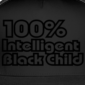 100% Intelligent Black Child / Glow in the Dark Ki - Trucker Cap