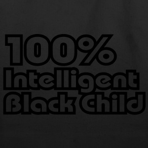 100% Intelligent Black Child / Glow in the Dark Ki - Eco-Friendly Cotton Tote