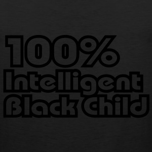 100% Intelligent Black Child / Glow in the Dark Ho - Men's Premium Tank