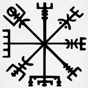 Gold Vegvísir (Viking Compass) - Adjustable Apron