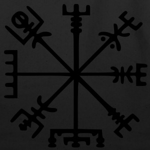 Vegvísir (Viking Compass) / Glow in the Dark - Eco-Friendly Cotton Tote