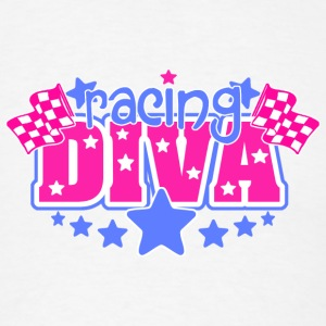 Racing Diva Buttons - Men's T-Shirt