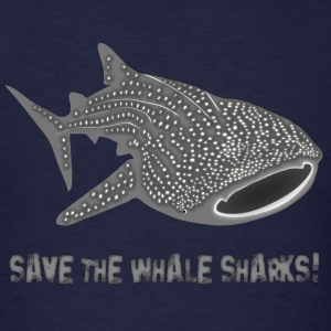 save the whale shark sharks fish dive diver diving endangered species Hoodies - Men's T-Shirt