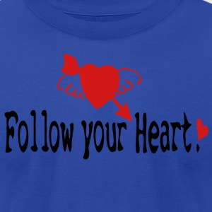 Follow your heart Women's Longer Length Fitted Tank - Men's T-Shirt by American Apparel