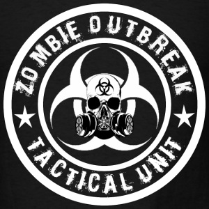 zombie outbreak tactical unit white 2 Hoodies - Men's T-Shirt