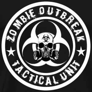 zombie outbreak tactical unit white 2 Sweatshirts - Men's Premium T-Shirt