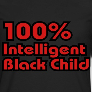 100% Intelligent Black Child Hoodies - Men's Premium Long Sleeve T-Shirt