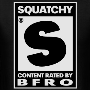 Rated S for Squatchy (Black & White) - Long Sleeve - Men's T-Shirt