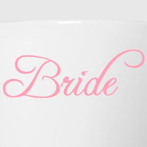 Fun Pink Bride Text Elegant Word Graphic Design for Bachelor Parties, Hen Party, Stag and Does, Bridal Party and Wedding Showers TShirts Hoodies - Coffee/Tea Mug