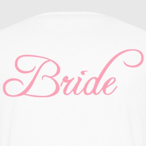 Fun Pink Bride Text Elegant Word Graphic Design for Bachelor Parties, Hen Party, Stag and Does, Bridal Party and Wedding Showers TShirts Hoodies - Men's Premium Long Sleeve T-Shirt