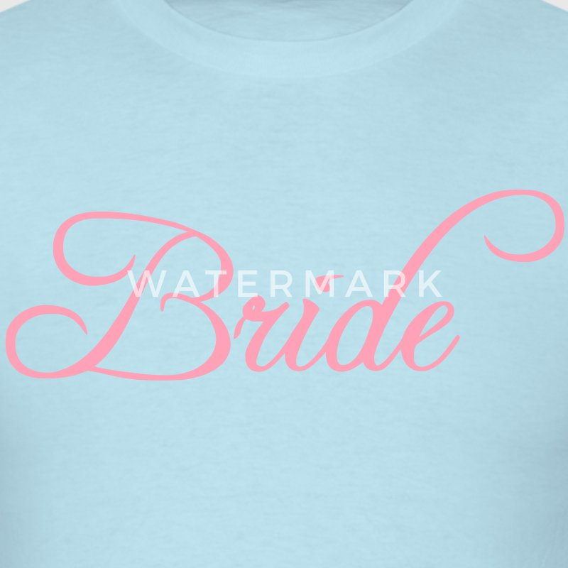 Fun Pink Bride Text Elegant Word Graphic Design for Bachelor Parties, Hen Party, Stag and Does, Bridal Party and Wedding Showers TShirts T-Shirts - Men's T-Shirt
