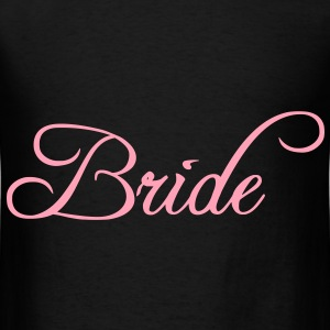 Fun Pink Bride Text Elegant Word Graphic Design for Bachelor Parties, Hen Party, Stag and Does, Bridal Party and Wedding Showers TShirts Bags  - Men's T-Shirt