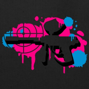 A paintball gun with a crosshair as a graffiti Zip Hoodies/Jackets - Eco-Friendly Cotton Tote