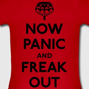 Now panic and freak out (Keep calm and carry on) Kids' Shirts - Short Sleeve Baby Bodysuit