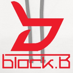 Block B Logo Red Ver. Women's T-Shirts - Contrast Hoodie