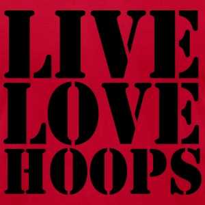 Live Love Hoops hoodie - Men's T-Shirt by American Apparel