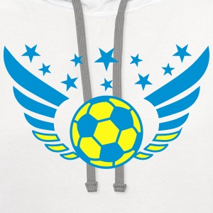 Football Futbol Wings Star Ukraine Ukraina 2c men' - Contrast Hoodie