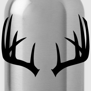 Deer Antlers Wide - Water Bottle
