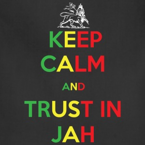 Keep Calm and Trust in Jah Hoodies - Adjustable Apron