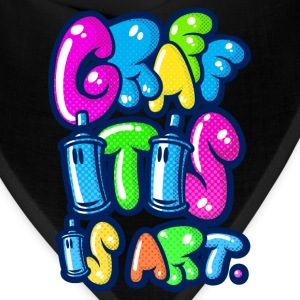 Graffitis is art Women's T-Shirts - Bandana