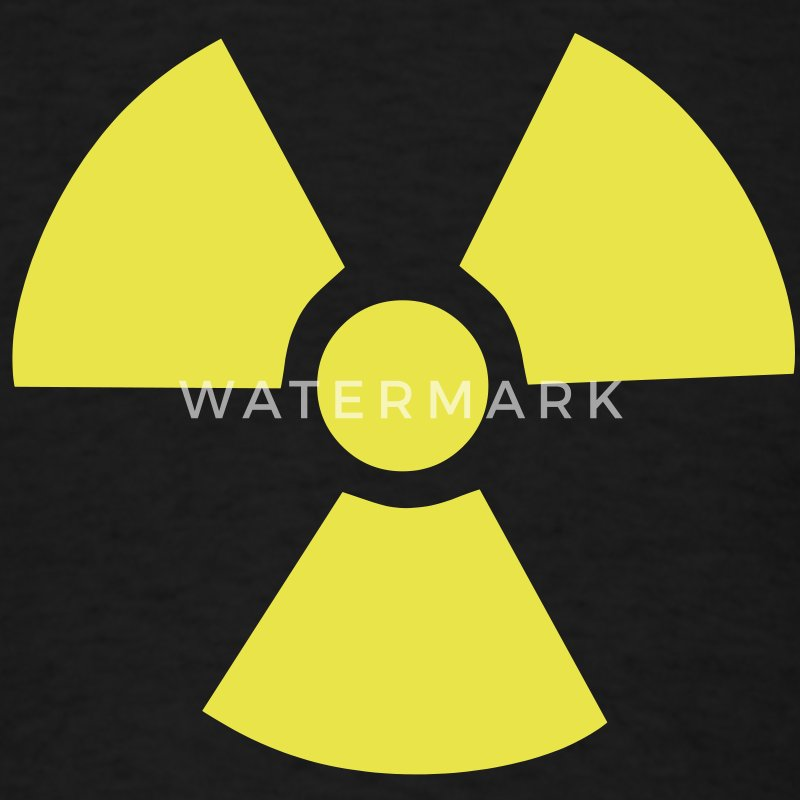 Radioactive Symbol T-Shirts - Men's T-Shirt