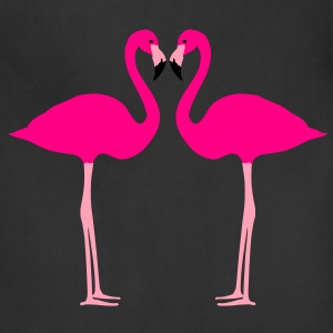 Flamingos, Flamingo Heart Women's T-Shirts - Adjustable Apron