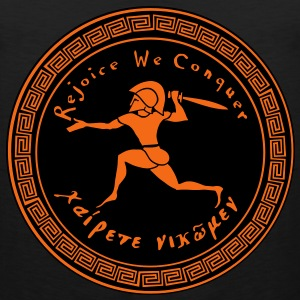 Rejoice We Conquer - Men's 2 Colors on Black - Men's Premium Tank