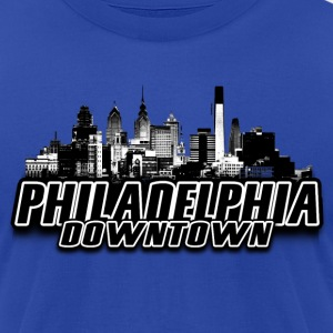 philadelphia Hoodies - Men's T-Shirt by American Apparel