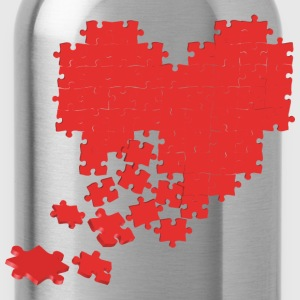 heart puzzle T-Shirts - Water Bottle