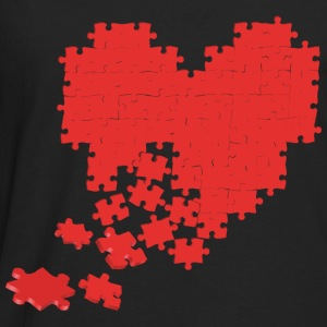 heart puzzle T-Shirts - Men's Premium Long Sleeve T-Shirt