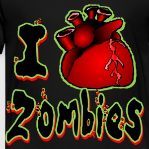 I <3 Zombies (green outline) - Toddler Premium T-Shirt