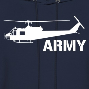 army helicopter - Men's Hoodie