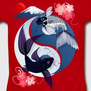 Yin and Yang Koi - Short Sleeve Baby Bodysuit