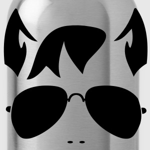 wolf man face in funky sunnies and wolfy ears T-Shirts - Water Bottle
