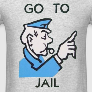 Go To Jail Crewneck - Men's T-Shirt