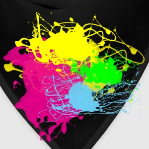 Multi Color Paint Splatter Graphic Design | Women and Teen Girl Graffiti Style Sweatshirt - Bandana