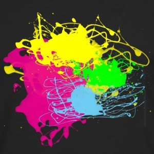 Multi Color Paint Splatter Graphic Design | Women and Teen Girl Graffiti Style Sweatshirt - Men's Premium Long Sleeve T-Shirt