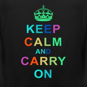 Keep Calm and Carry On Tee - Men's Premium Tank