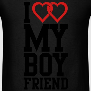 I love my Boyfriend Long Sleeve Shirts - Men's T-Shirt