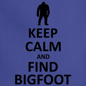Keep Calm and Find Bigfoot (White) - Men's - Adjustable Apron