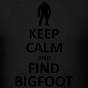 Keep Calm and Find Bigfoot (Glow In The Dark) - Hoodie - Men's T-Shirt