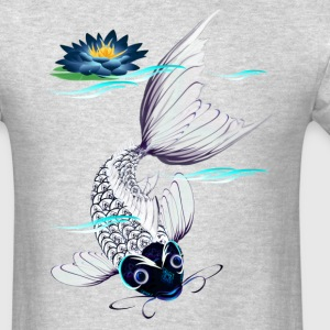 White Koi-Blue Lily - Men's T-Shirt