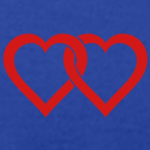 two hearts Tanks - Men's T-Shirt by American Apparel