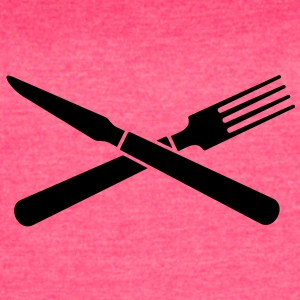 knife and fork (crossed, 1c) Tanks - Women's Vintage Sport T-Shirt