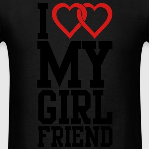 I love my Girlfriend Long Sleeve Shirts - Men's T-Shirt