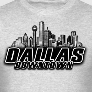 dallas downtown Skyline Long Sleeve Shirts - Men's T-Shirt