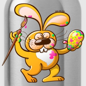 Easter Bunny Painting an Egg T-Shirts - Water Bottle